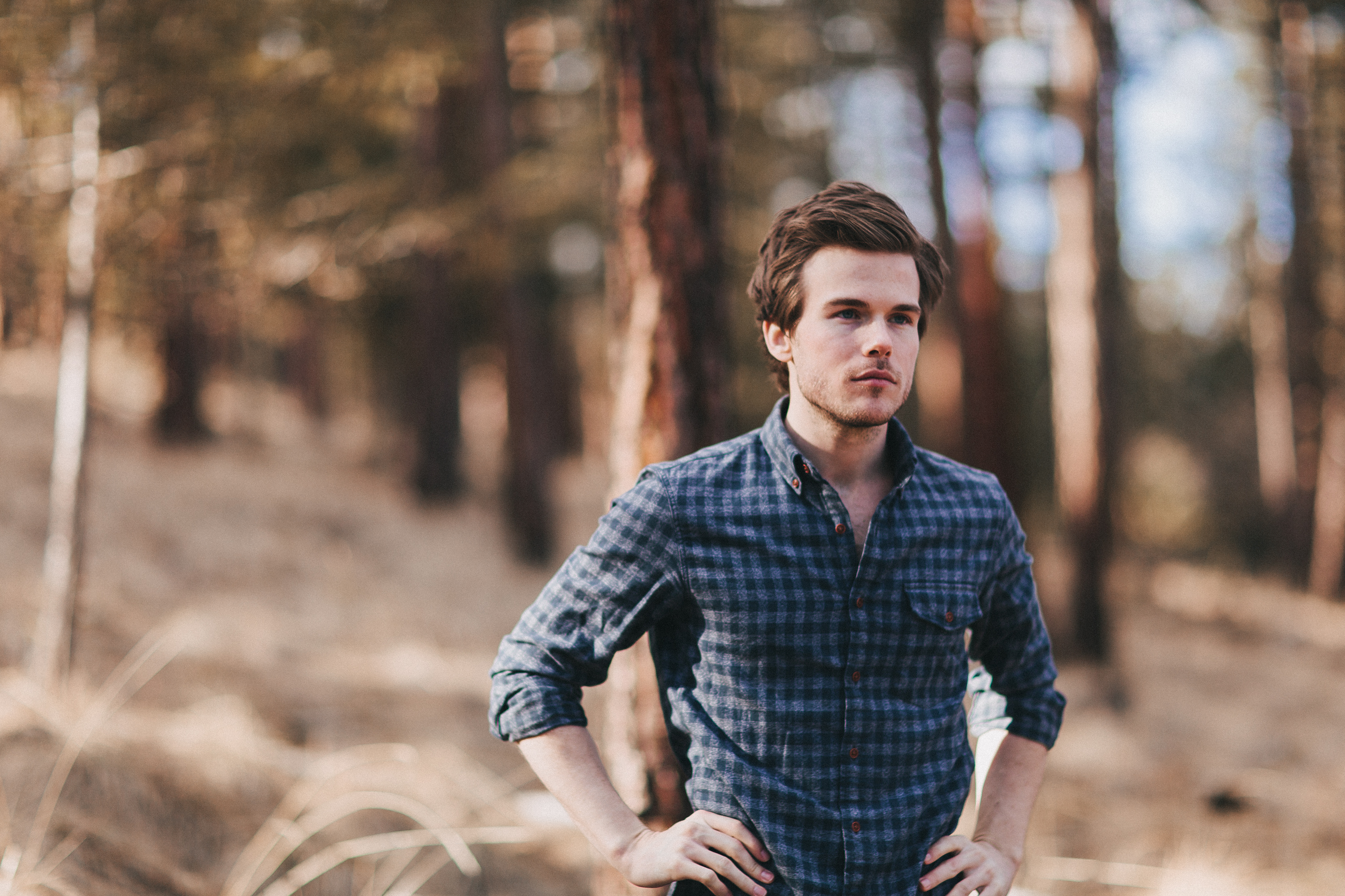 Colin Wright in the Montana woods. Photo by Joshua Weaver