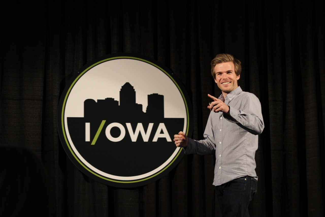 Colin Wright speaking at IOWA conference