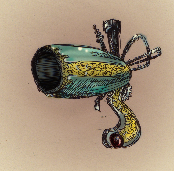 Finding the right equipment is vital for any project. I'm still looking for the right steampunk pistol-canon...