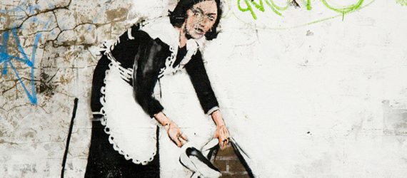Banksy photo by givepeasachance
