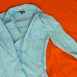 Light Blue Military-Style Shirt