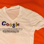 White V-Neck Tshirt (Google Homepage)