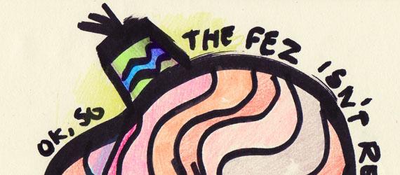 Brain with fez