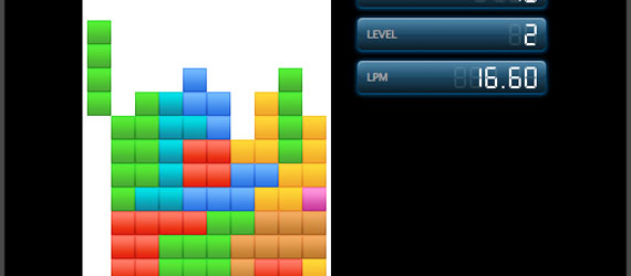 Tetris screen