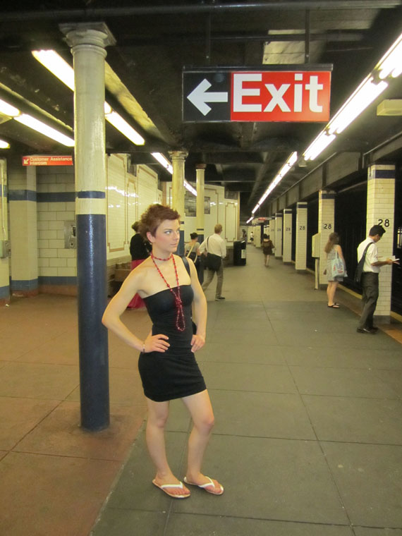 Andi in the subway