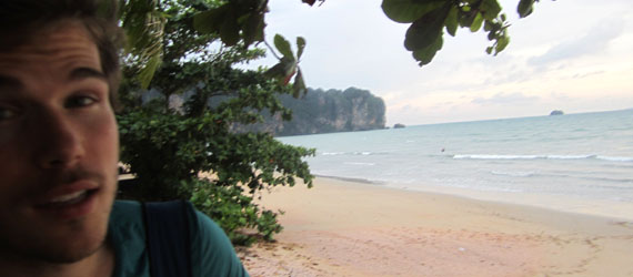 Colin Wright on Ao Nang beach
