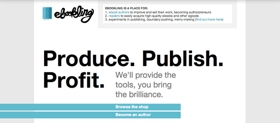 Ebookling homepage