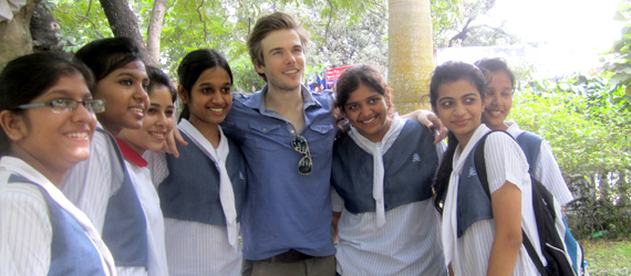 Colin Wright posing in Calcutta