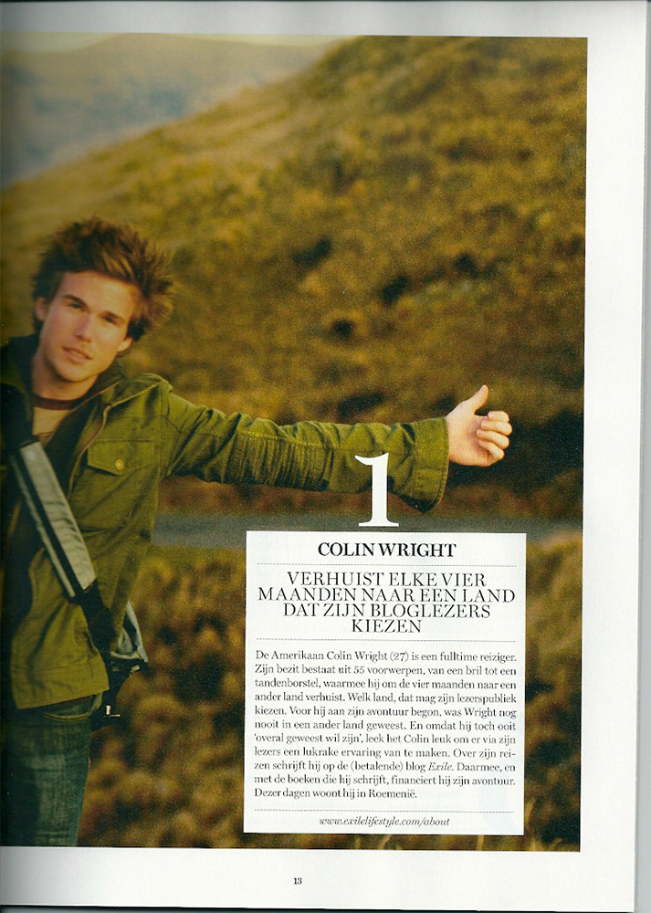 Colin Wright in De Standaard magazine (Belgium)